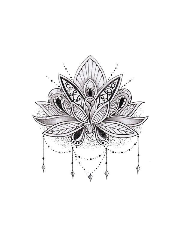 Mandala lotus flower von mermaidnatalie tattoo ideen pinterest tattoo ideen ordner und - Mandala fleur de lotus ...