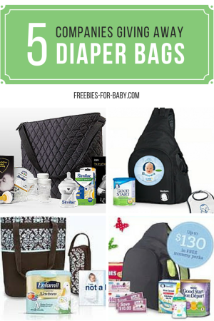 Get 5 Free Diaper Bags From Companies Like Gerber Similac Enfamil Nestle More
