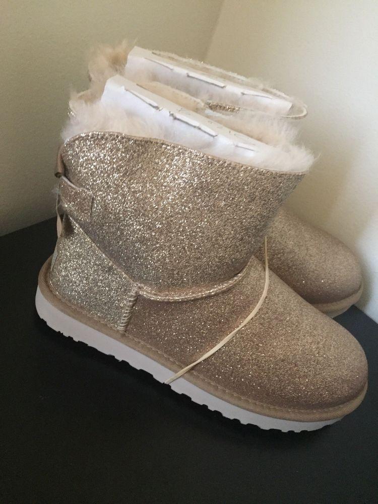 a23b45065a4 UGG W Mini Bailey Bow Soatkle W / Gold Size 8 #fashion #clothing ...