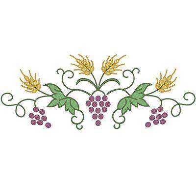 TRIGO Y UVAS COLECCIÓN 2 | MOTIVOS RELIGIOSOS | Baby embroidery
