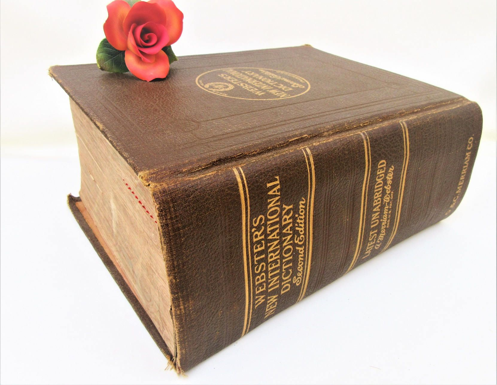 Antique Dictionary Large Websters Dictionary Huge Unabridged