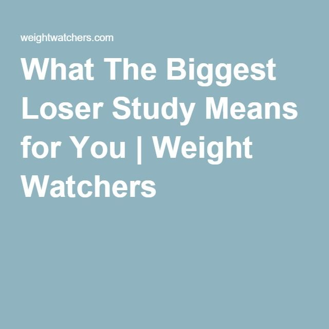 What The Biggest Loser Study Means for You | Weight Watchers