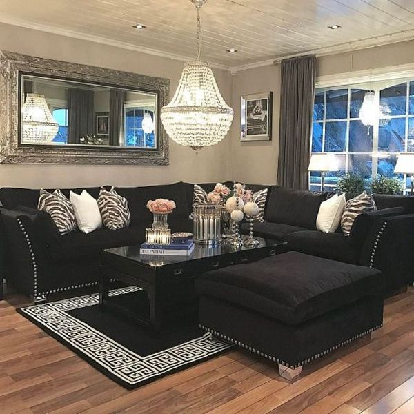 47 Popular Living Room Decor Ideas With Black Sofa Black Sofa Living Room Decor Black Living Room Decor Black Sofa Living Room