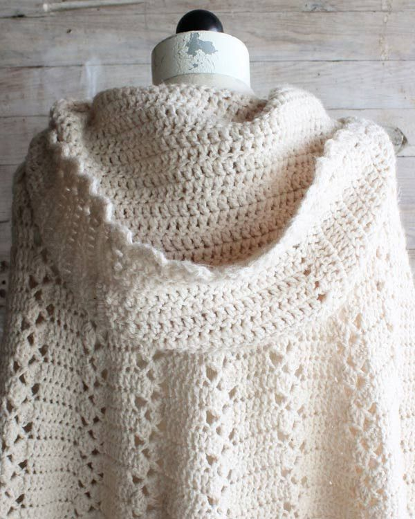 Long Hooded Cape Crochet Pattern Main Colors Hoods And Yarns