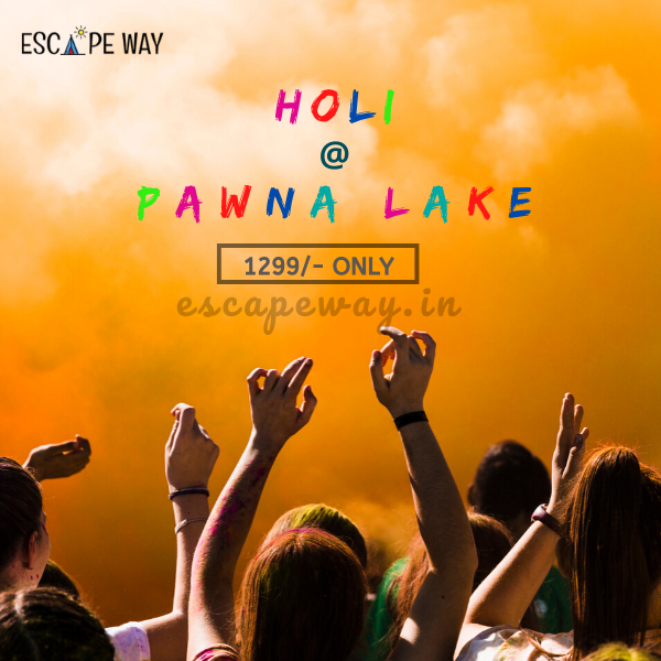 Celebrate the festival of colors with all the fun Holi 2020 party Pawna Lake in Pune with @escapeway Enjoy Rain Dance with Organic Color  Lakeside Tent Stay   Delicious Food & BBQ   Bonfire. . #pawnalakecamping #pawnalake #escapeway #holi #happyholi #india #festival #holifestival #love #colors #colours #color #holipowder #festivalofcolors #bhfyp  #holihai #festivalofcolours #holifest  #tiktok #instagood #indianfestival  #mumbai #photography #pune