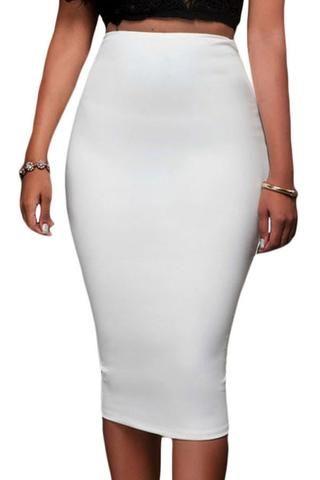 9a50b97b43024f Jupes Moulante Blanc Fermeture Eclair Super Sleek | Mode,Outfilt ...