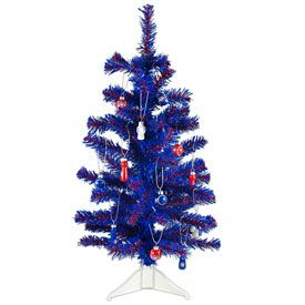 Cubs Christmas Ornaments.Chicago Cubs Team Tree W Ornaments Christmas Stuff Cubs