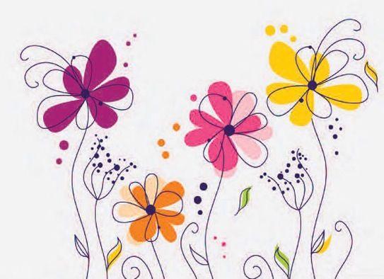 Fleurs stylisées