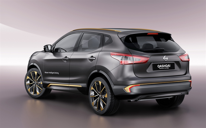download wallpapers nissan qashqai 2018 redesign 4k exterior rear view crossover new gray. Black Bedroom Furniture Sets. Home Design Ideas