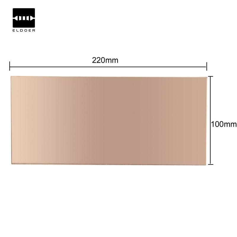 1PC 100x220x1 5mm Double Sided Copper Clad Plate PCB Circuit