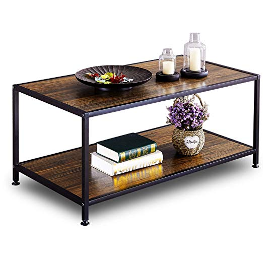 Amazon Com Greenforest Coffee Table Industrial For Living Room