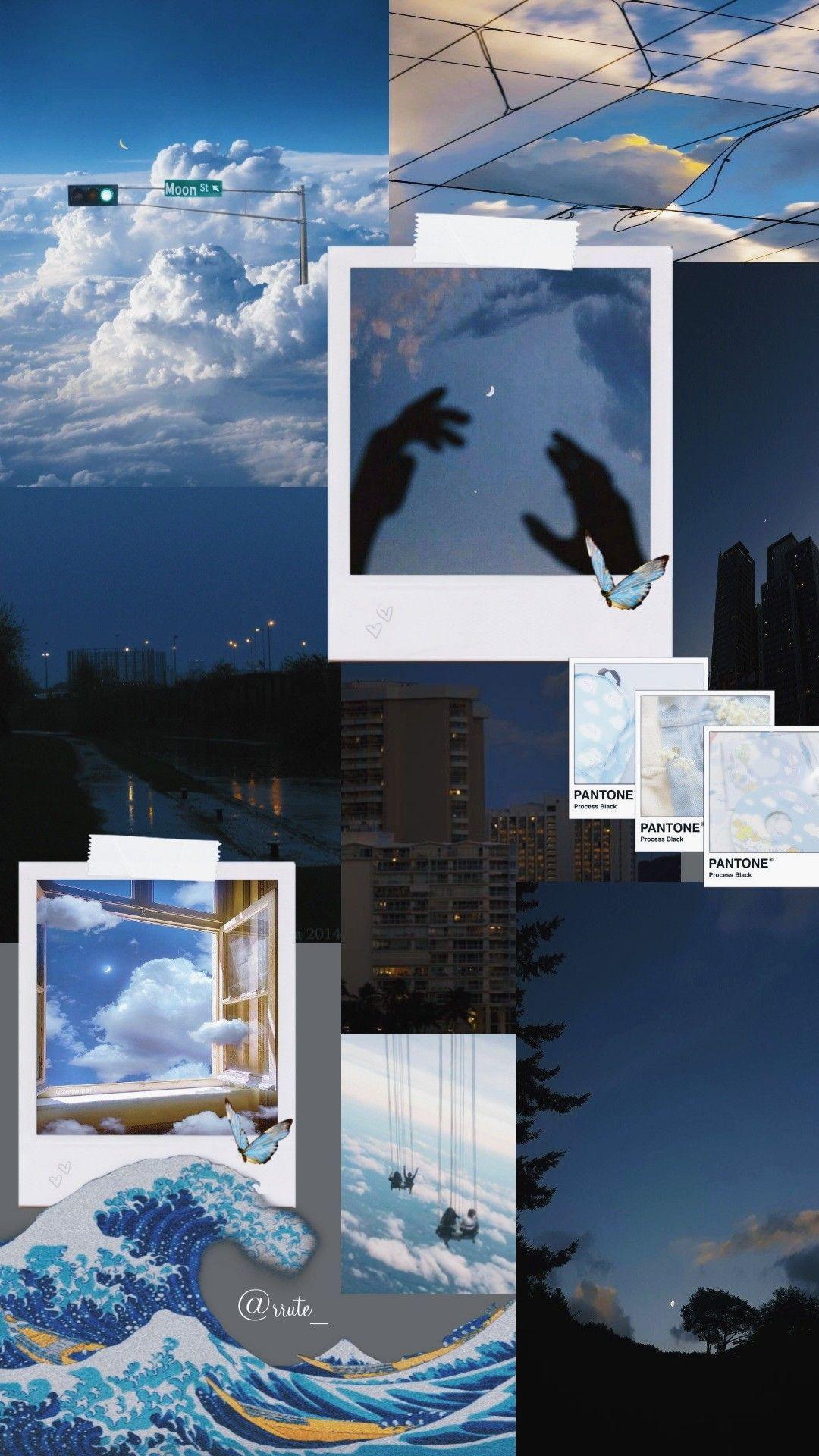 Wallpaper blue 🏙 em 2021 | Colagem de foto na parede ...