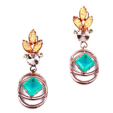 Lulu Frost althea green earring