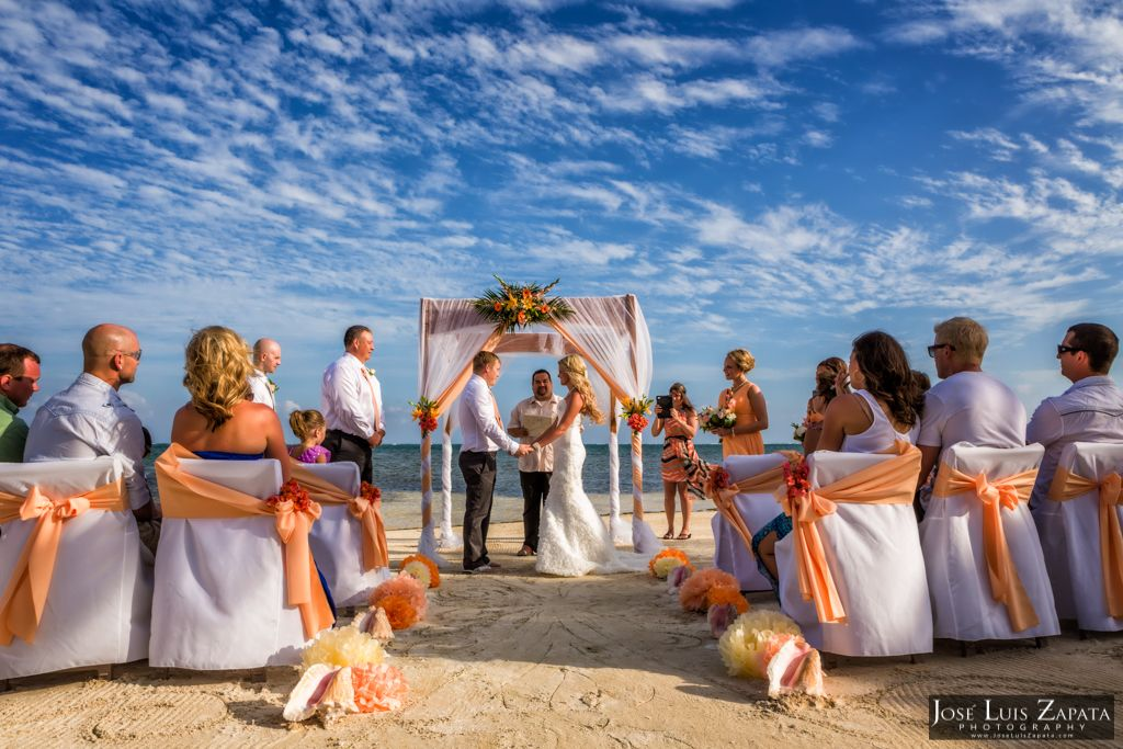 Saying I Do At Coco Beach Resort Ambergris Caye Belize WeddingPhotographer