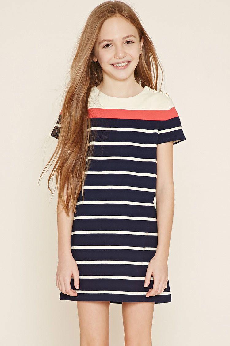 Girls Stripe Dress (Kids) | Forever 21 girls - 2000151141 | sarita ...