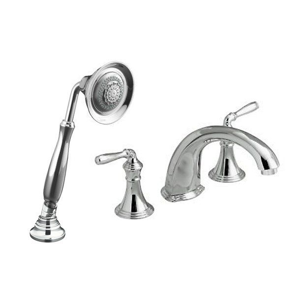 Roman Tub Spout With Diverter. Kohler Devonshire Complete Roman Tub Deck Mounted Faucet Package with Hand  Shower and Valve Diverter K DEVONSHIRE ROMAN TUB PACK