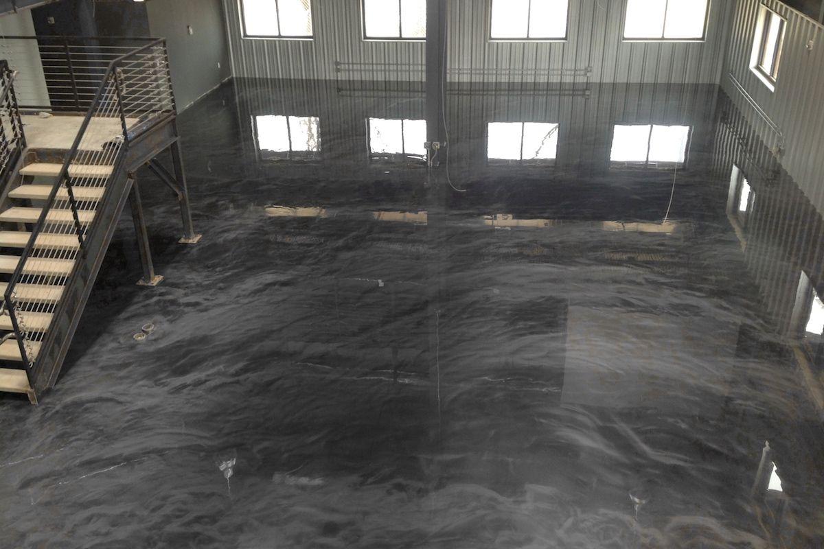 Intense Anthracite Epoxidharzboden Inkl Grundierung Epodex Epoxidharz Boden Bodenbeschichtung Epoxidharz