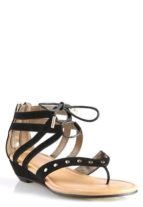 c8740a5c99d Cato Fashions Wide Width Gladiator Wedge Sandals #CatoFashions ...