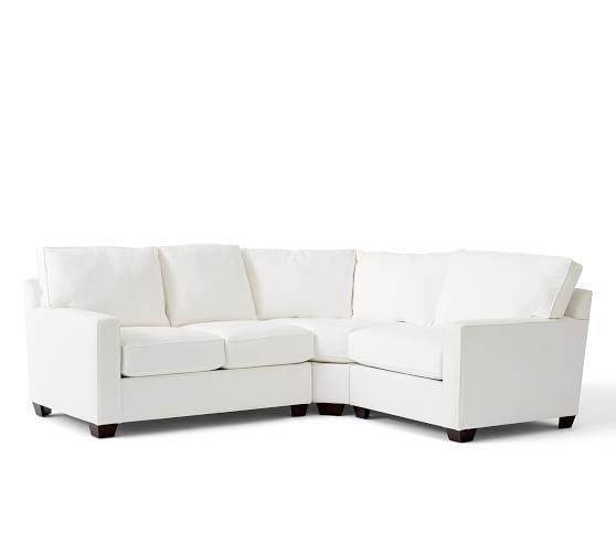 Buchanan Square Arm Upholstered Curved 3 Piece Sectional