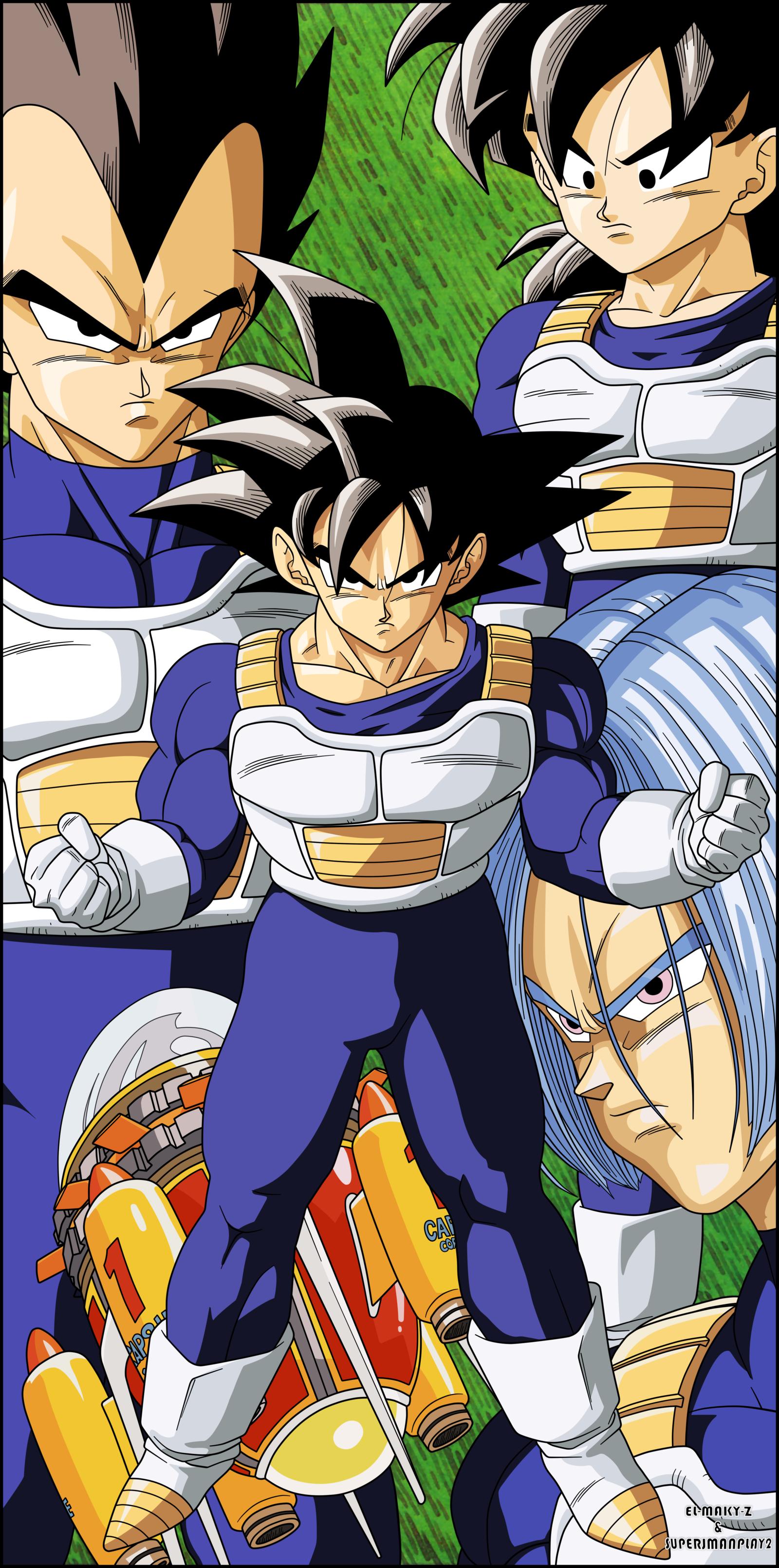 Dragon Ball Z Saiyans By El Maky Z On Deviantart Dragon Ball Artwork Dragon Ball Z Anime Dragon Ball Super