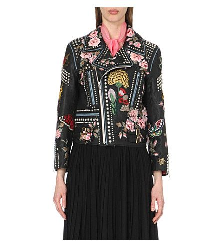 ede32208ab6e GUCCI Embroidered Studded Leather Biker Jacket.  gucci  cloth  coats ...