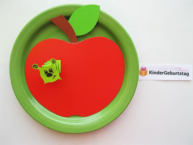 Wurm Im Apfel Basteln Anleitung Und Vorlage Deutsch Lernen