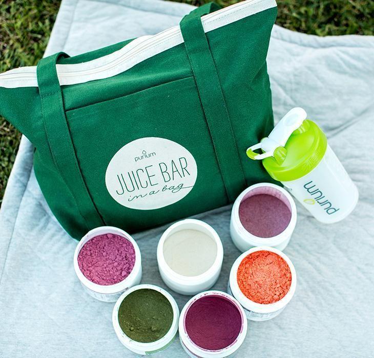 Juice bar in a bag purium juice bar flavored drinks bags