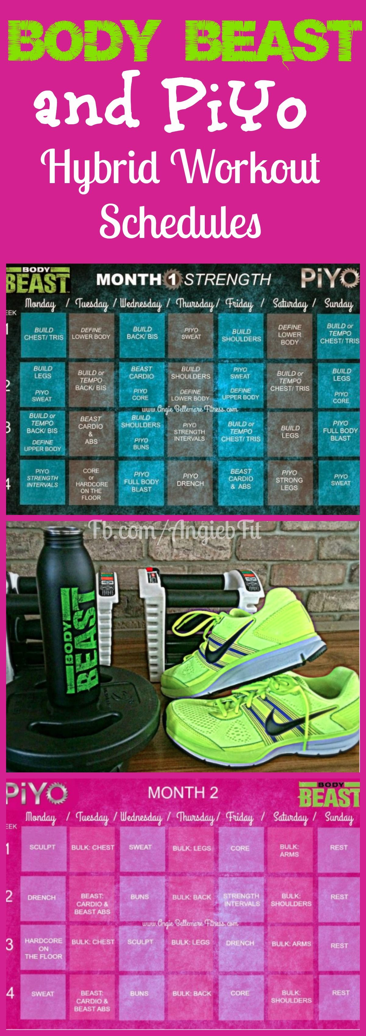 Click The Pin To See This Hybrid Calendar Of Two Amazing Programs Piyo And Body Beast This