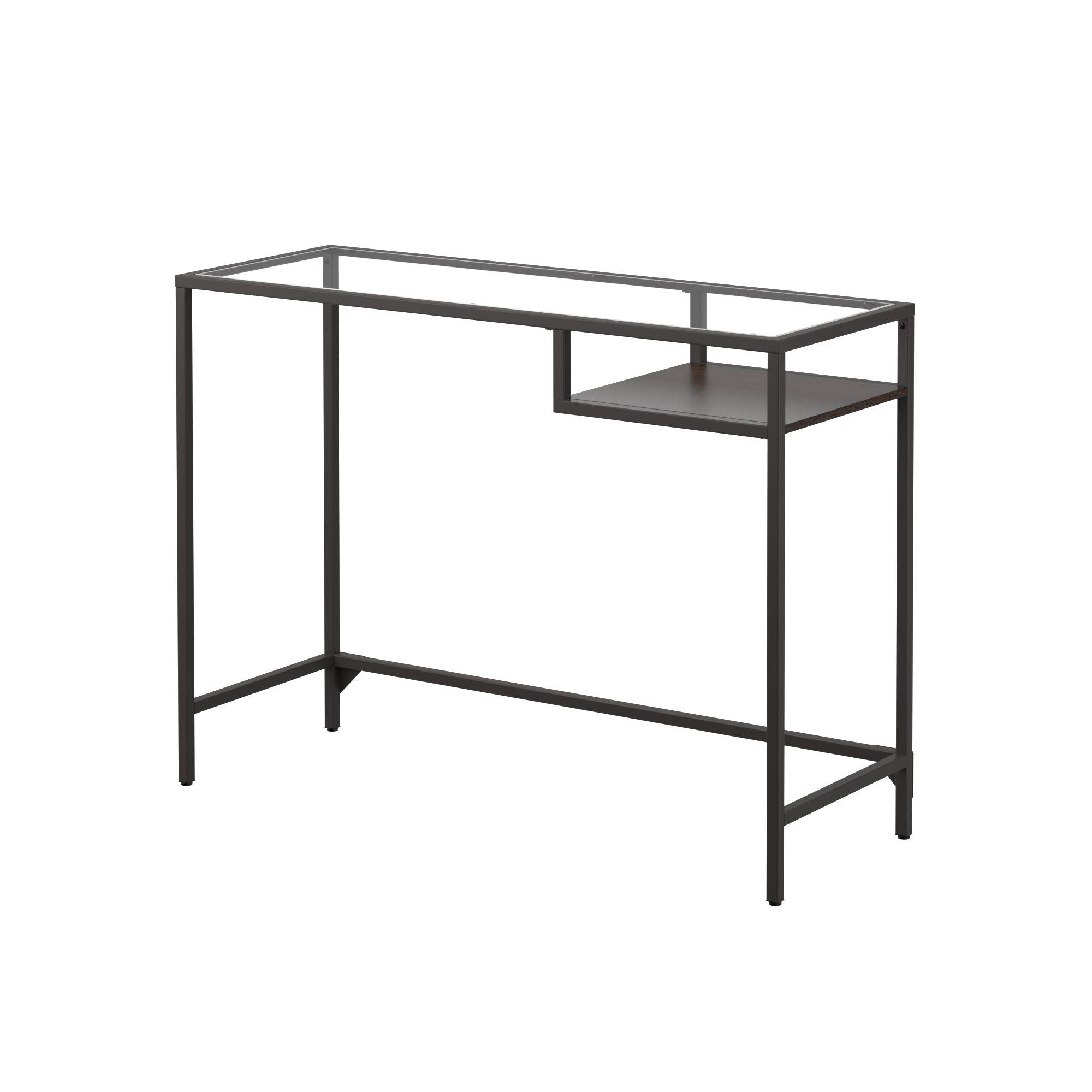 Vittsjo Laptop Table Black Brown Glass 39 3 8x14 1 8 Ikea In 2020 Laptop Table Ikea Guest Room Office