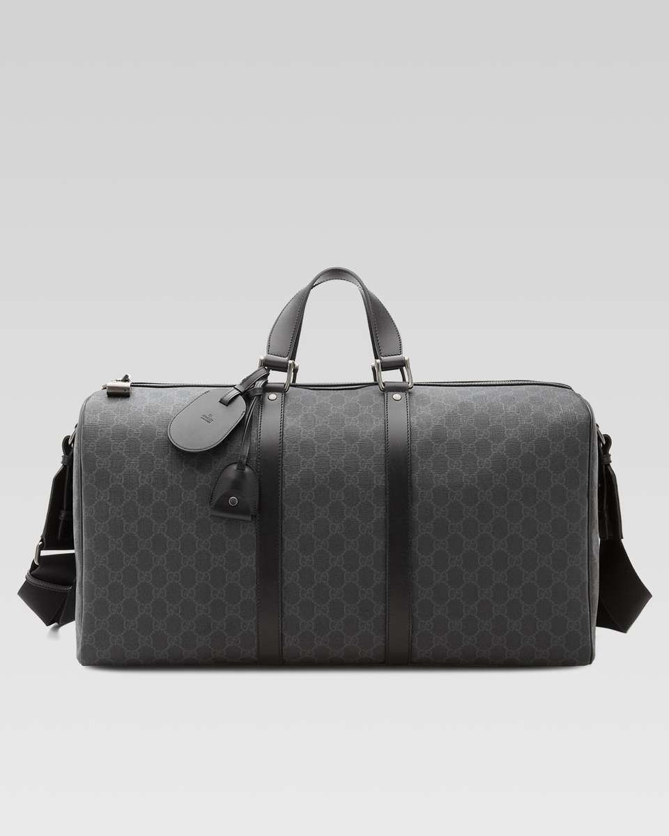 00456601550 Gucci GG Supreme Canvas Large Carry-On Duffel Bag