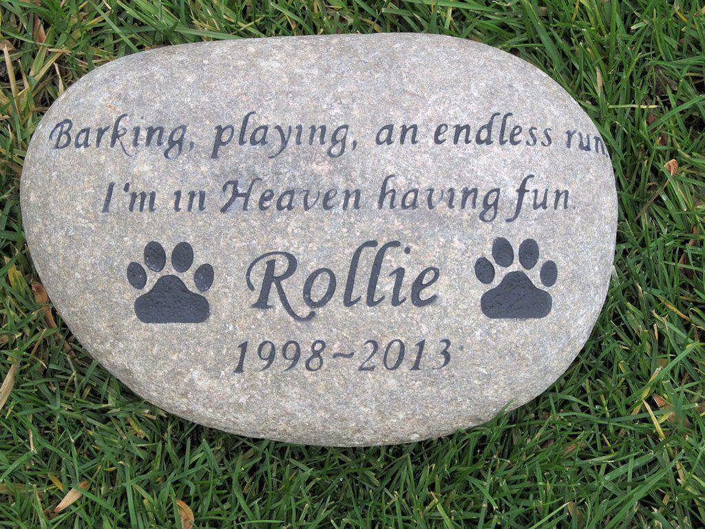 Pet Memorial Stone, Burial Cemetery Stone 1112 Inch Pet