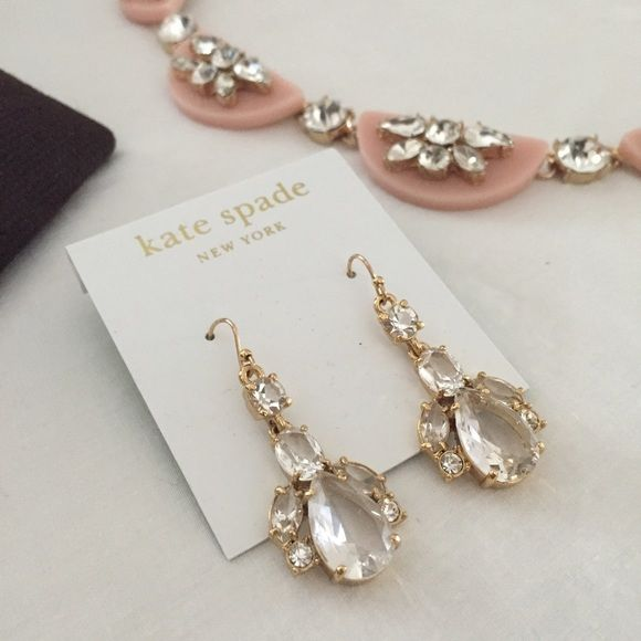 Kate Spade 14k gold fill clear chandelier earrings | Chandelier ...