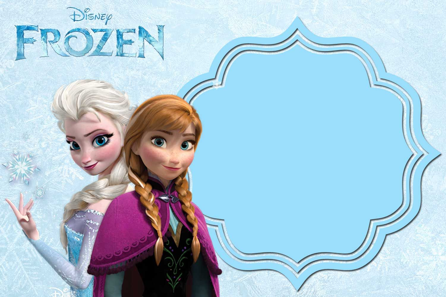 graphic relating to Free Printable Frozen Invites known as Totally free Printable Frozen Invitation Templates Bagvania Cost-free