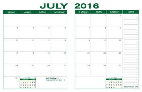 Free Desk Calendars for 2015. Five Colors in PDF Format.