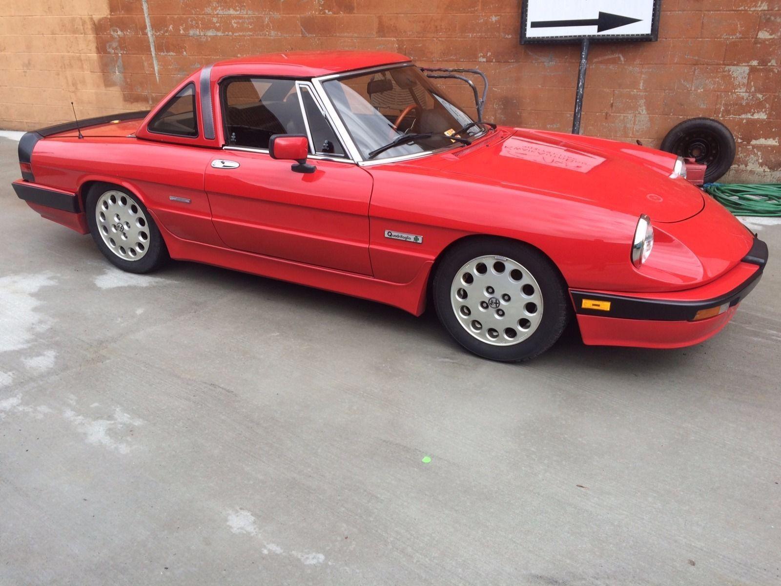 Car Brand Auctionedalfa Romeo Spider Veloce 1989 Model Alfa Quadrifoglio Convertible