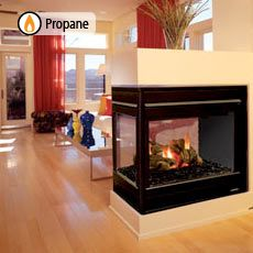 propane stoves fireplaces | Peninsula Three sided ...