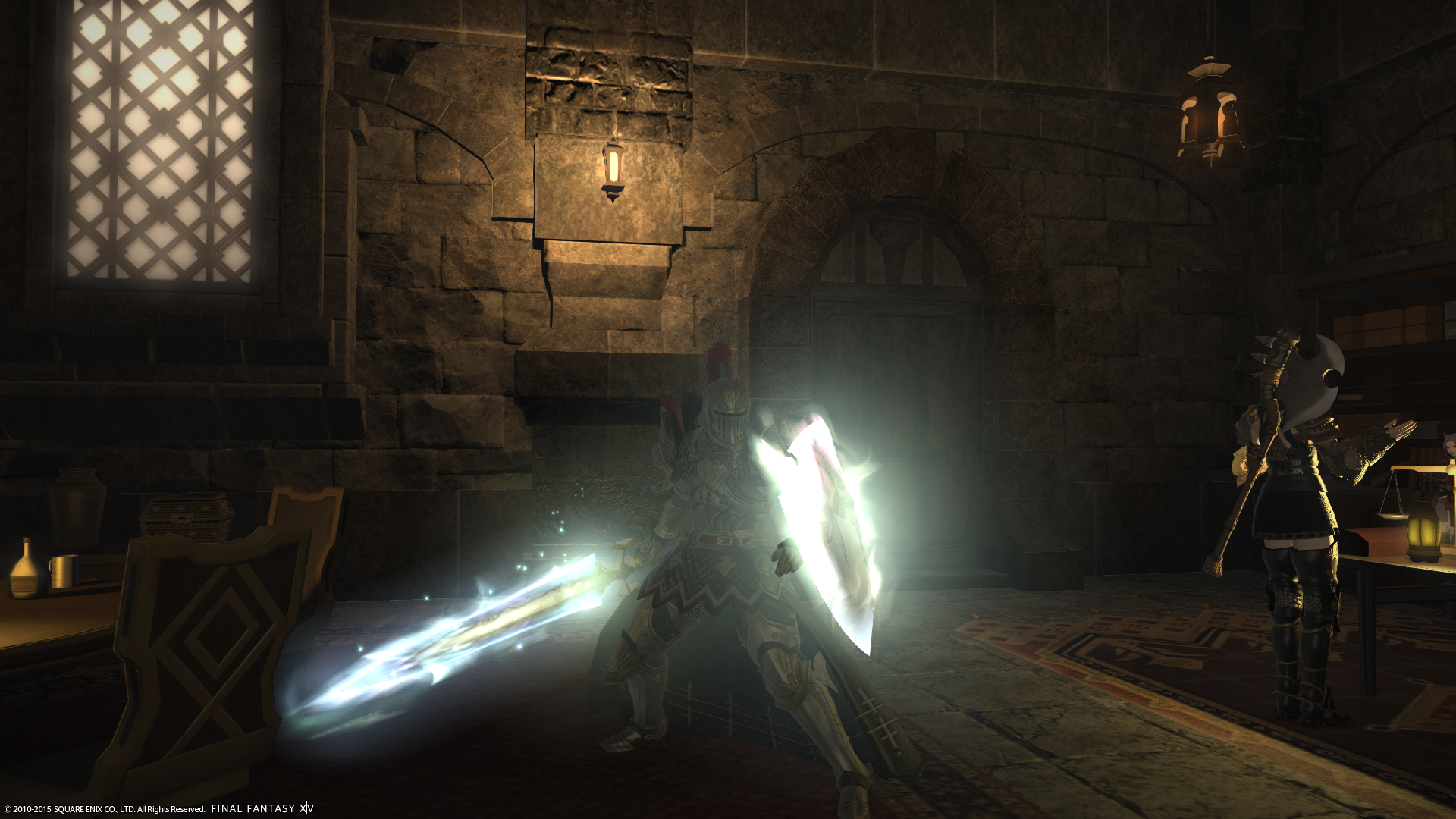 Past photo of relic weapon and Heavensward quest equipment.