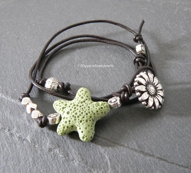 Lederwickelarmband von Happy-about- Pearls auf DaWanda.com