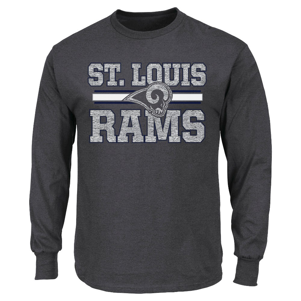 Black t shirt xxl - St Louis Rams Men S Long Sleeve T Shirt Xxl Black