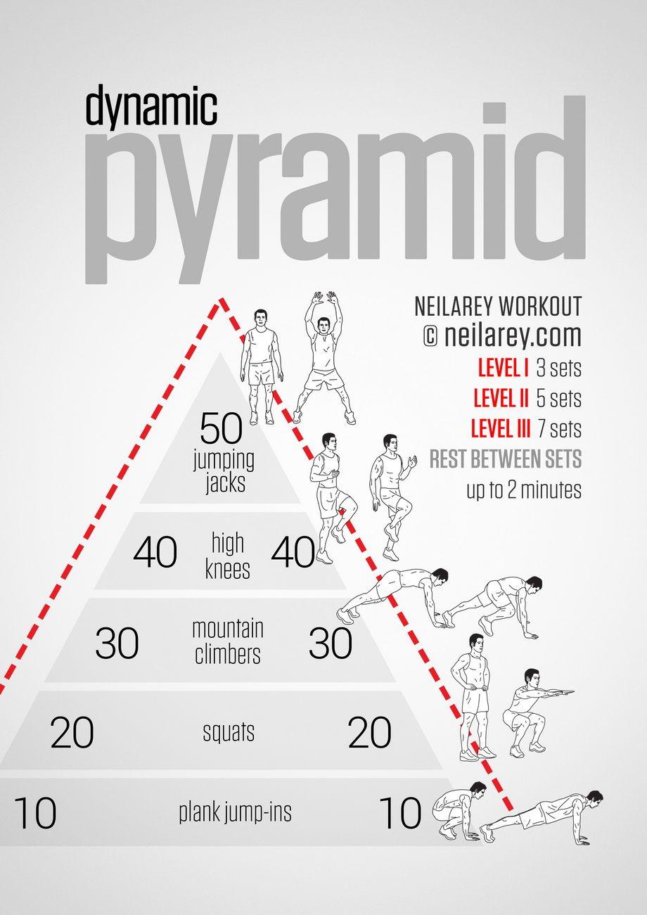 Dynamic Pyramid Workout Pyramid Workout Cardio Workout Bodyweight Workout
