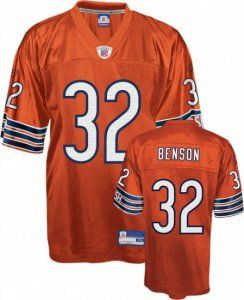 competitive price a8138 08fc8 Cedric Benson Jersey: NFL #32 Chicago Bears Jersey in Orange ...