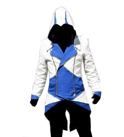 Assassins Creed 3 III Connor Kenway Edward Men Hoodie Jacket Costume Video  Game Cosplay Novelty Patchwork