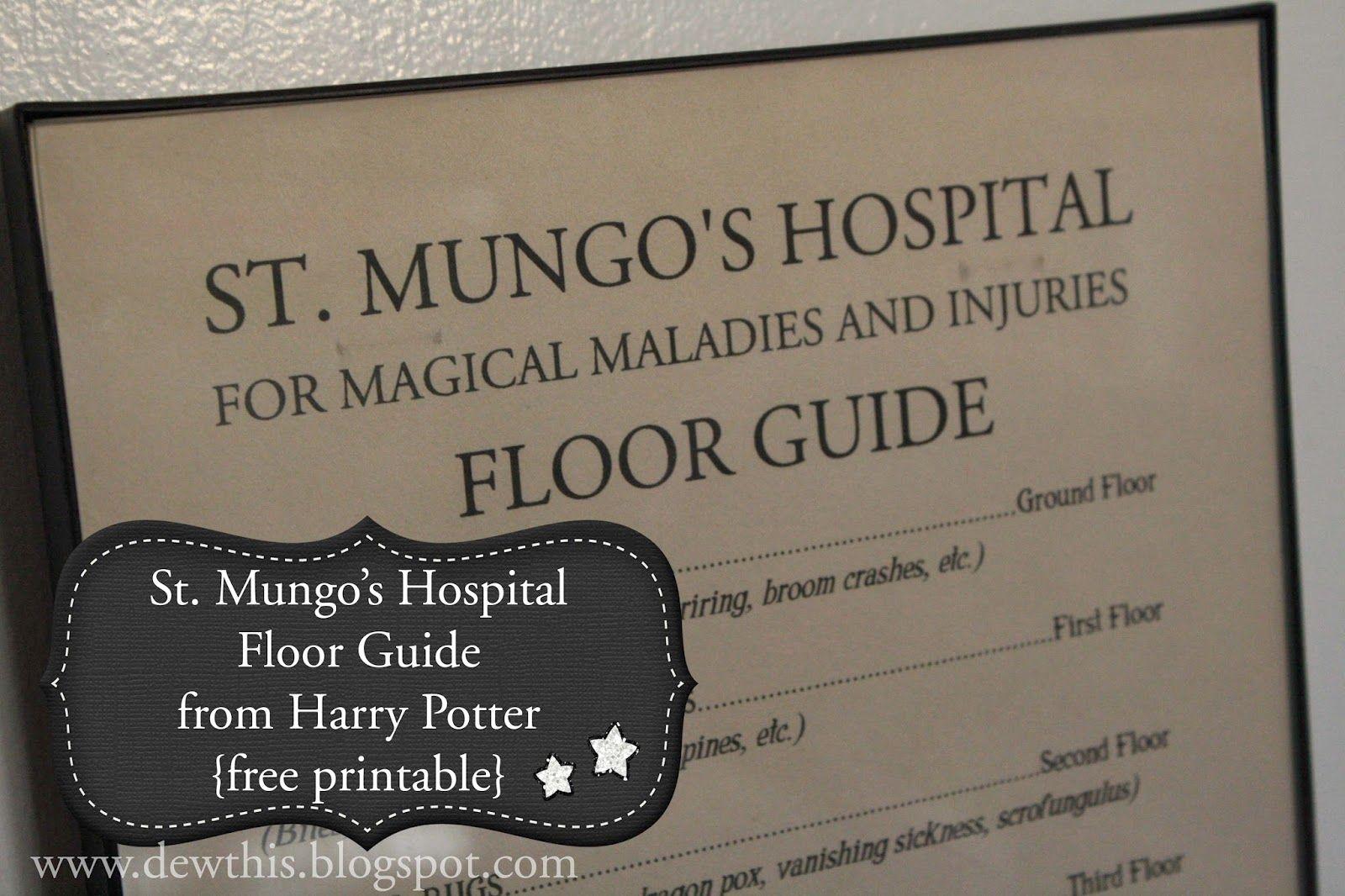 Dew This Harry Potter St Mungo S Hospital Floor Guide Potter Harry Potter Harry