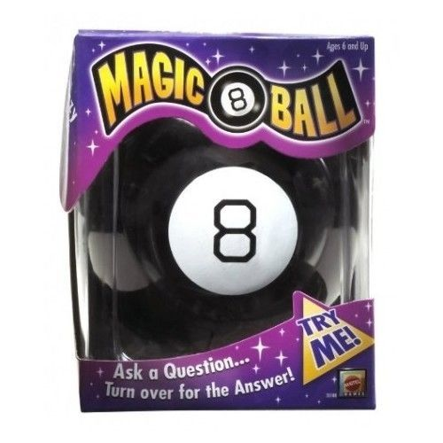 Magic 8 Ball Toys Original Fortune Teller Game Kids Black Classic Vintage Mattel #Mattel