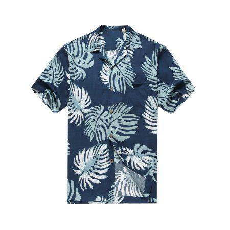 Hawaiian Aloha Shirt in Blue Sunset