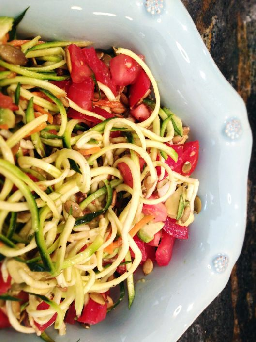 raw pasta salad