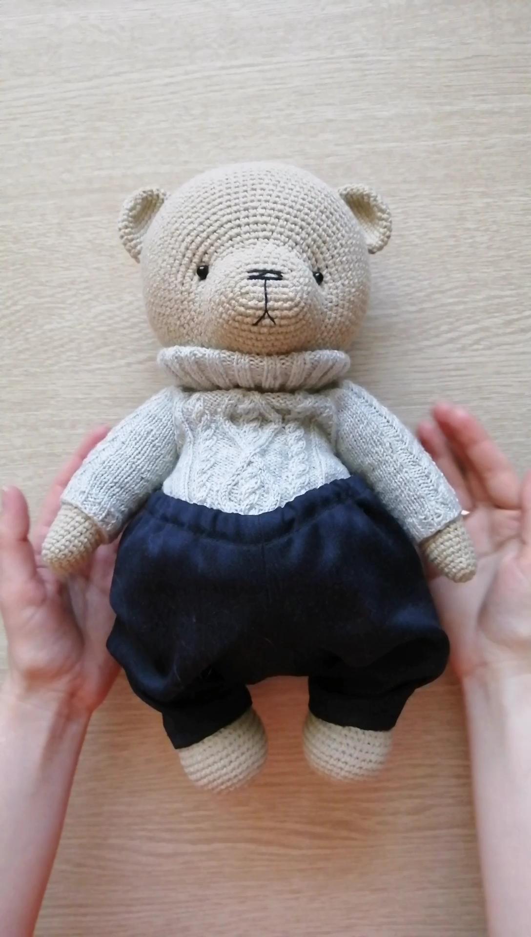 PATTERN Crochet Teddy bear. PATTERN Amigurumi Teddy bear.