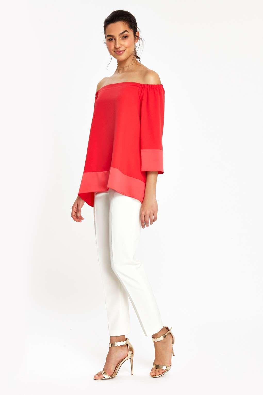b789761c0a9f3 Monochrome Stripe Bardot Top - In The Press - Clothing - Wallis ...