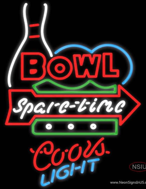 Coors Light Neon Bowling Bowl Spare Time Real Neon Glass Tube Neon Sign Affordable And Durable Made In Usa If You Want To Get It Neon Signs Neon Sign Art Neon