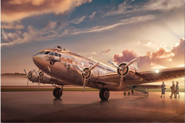 Pan Am Boeing 307 Stratoliner by Aviation Artist Ron Cole